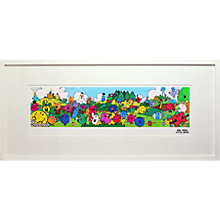 Buy Roger Hargreaves - Mr. Men & Little Miss Framed Print, 48 x 103cm Online at johnlewis.com