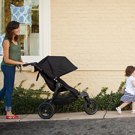 Buy Baby Jogger City Elite Pushchair, Black/Black Online at johnlewis.com
