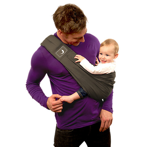 Buy BabaSling Classic Baby Carrier, Charcoal Grey Online at johnlewis.com