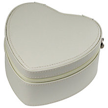 Buy Dulwich Designs Leather Heart Trinket Box, White Online at johnlewis.com