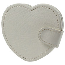 Buy LC Designs Leather Pocket Mirror and Frame, White Online at johnlewis.com
