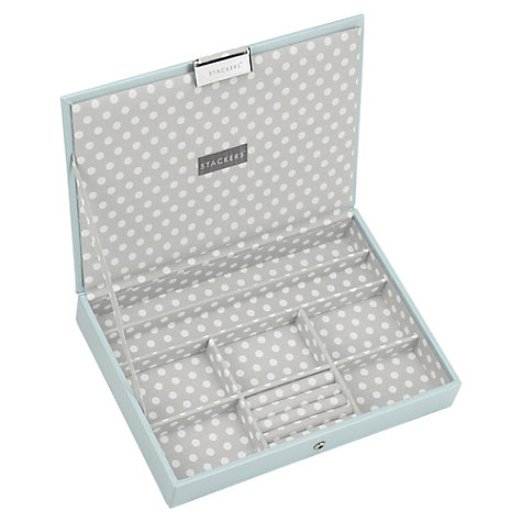 Buy stackers jewellery box lid blue grey spot john lewis for Stackers jewelry box canada