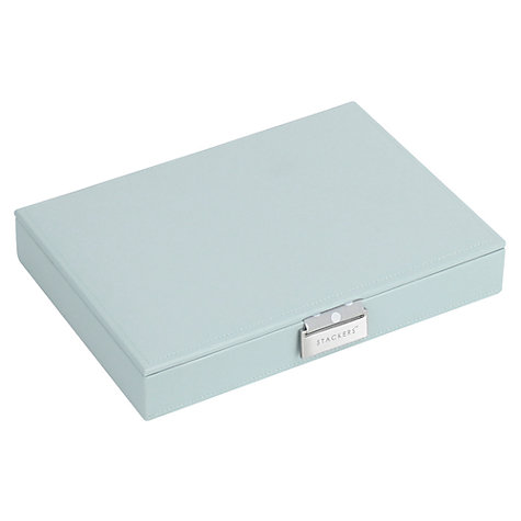 Buy Stackers Jewellery Box Lid, Blue/Grey Spot Online at johnlewis.com
