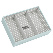 Buy STACKERS by LC Designs Jewellery Box, Blue/Grey Spot, 3-section Tray Online at johnlewis.com