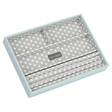 Buy STACKERS by LC Designs Jewellery Box, Blue/Grey Spot, 4-section Online at johnlewis.com