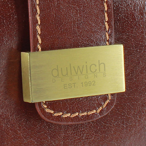 Buy Dulwich Designs Heritage Cufflink Box, Leather, Brown Online at johnlewis.com