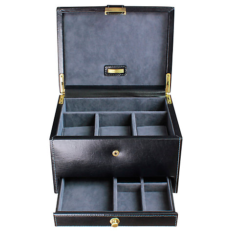 Buy Dulwich by LC Designs Heritage 3 Piece Watch Box, Black Online at johnlewis.com