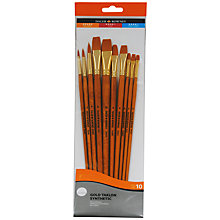 Buy Daler-Rowney Gold Taklon Long Handled Brushes, Set of 10 Online at johnlewis.com