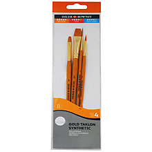 Buy Daler-Rowney Gold Taklon Short Handled Paint Brushes, Set of 4 Online at johnlewis.com