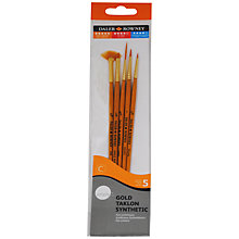 Buy Daler-Rowney Gold Taklon Short Handled Brushes, Set of 5 Online at johnlewis.com