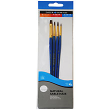 Buy Daler-Rowney Natural Sable Short Handled Paint Brushes, Set of 4 Online at johnlewis.com