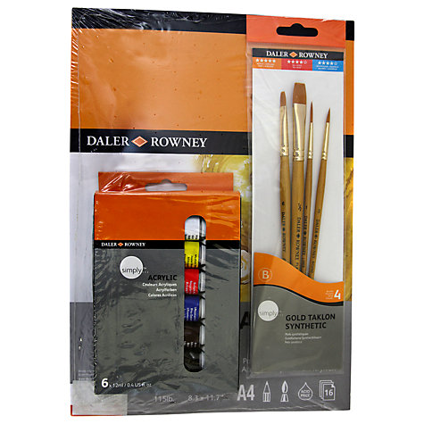 Buy Daler-Rowney Simply Acrylic A4 Set Online at johnlewis.com