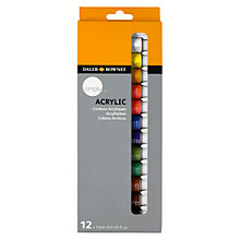 Buy Daler-Rowney Simply Acrylic Paint Set, 12 x 12ml Online at johnlewis.com