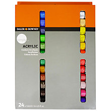 Buy Daler-Rowney Simply Acrylic Paint Set, 24 x 12ml Online at johnlewis.com