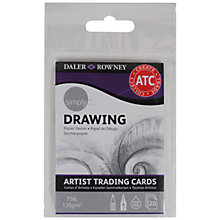 Buy Daler-Rowney Simply Artist Trading Cards, Drawing Online at johnlewis.com