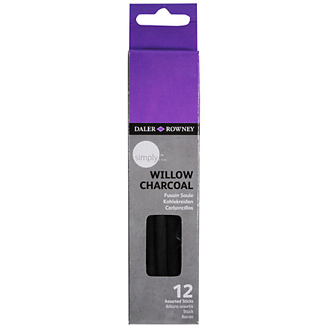 Buy Daler-Rowney Simply Willow Charcoal, Pack of 12 Online at johnlewis.com