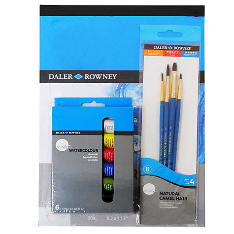 Buy Daler-Rowney Simply A4 Watercolour Set Online at johnlewis.com