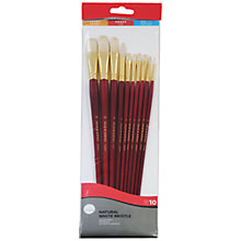 Buy Daler-Rowney White Bristle Long Handled Paint Brushes, Set of 10 Online at johnlewis.com