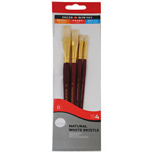 Buy Daler Rowney White Bristle Short Handle Paint Brushes, Set of 4 Online at johnlewis.com