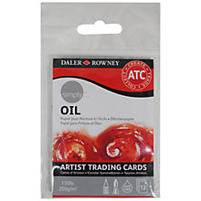 Buy Daler-Rowney Simply Artist Trading Cards, Oil Online at johnlewis.com
