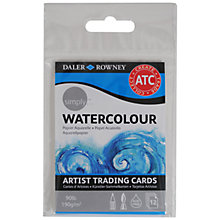 Buy Daler-Rowney Simply Artist Trading Cards, Watercolour Online at johnlewis.com