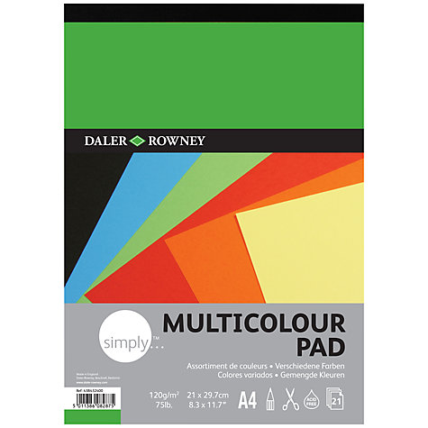 Buy Daler-Rowney Simply A4 Coloured Paper Online at johnlewis.com