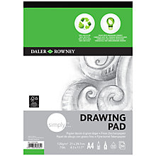 Buy Daler-Rowney Simply A4 Eco Drawing Pad Online at johnlewis.com