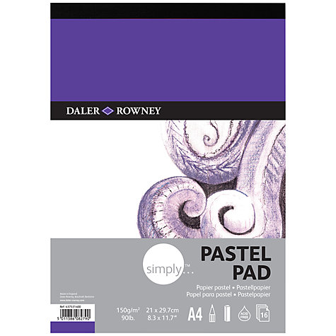 Buy Daler-Rowney Simply A4 Pastel Pad Online at johnlewis.com
