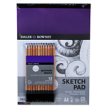 Buy Daler-Rowney Simply A4 Sketching Set Online at johnlewis.com