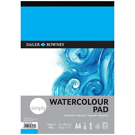 Buy Daler-Rowney Simply A4 Watercolour Pad Online at johnlewis.com