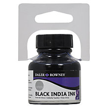 Buy Daler-Rowney Simply India Ink, Black Online at johnlewis.com