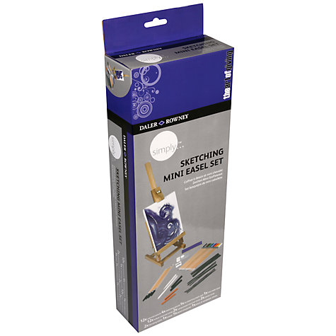 Buy Daler-Rowney Simply Drawing Mini Easel Set Online at johnlewis.com