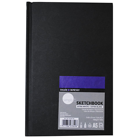 Buy Daler-Rowney Simply Hardback Sketch Book, A5 Online at johnlewis.com
