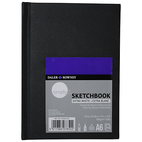 Buy Daler-Rowney Simply Hardback Sketch Book, A6 Online at johnlewis.com