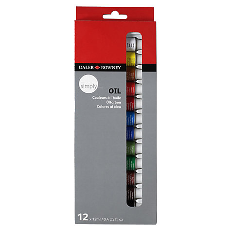 Buy Daler-Rowney Simply Oil Paints, 12 x 12ml Online at johnlewis.com