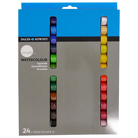 Buy Daler-Rowney Simply Watercolour Set, 24 x 12ml Online at johnlewis.com