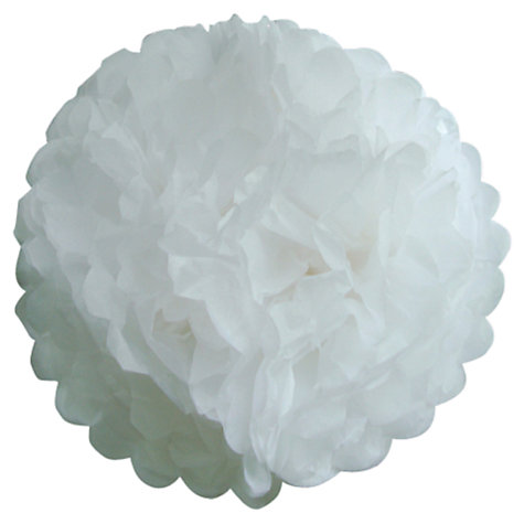 Buy Talking Tables Something in the Air Tissue Pom Pom, White, Pack of 5 Online at johnlewis.com