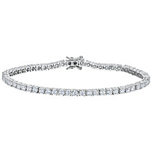 Buy Jools by Jenny Brown Cubic Zirconia Tennis Bracelet, Silver Online at johnlewis.com