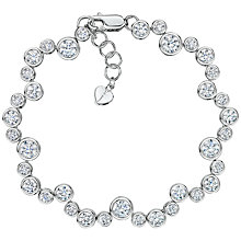 Buy Jools by Jenny Brown Cubic Zirconia Circles Bracelet, Silver Online at johnlewis.com