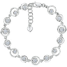 Buy Jools by Jenny Brown Cubic Zirconia Open Circles Bracelet, Silver Online at johnlewis.com