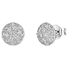 Buy Jools by Jenny Brown Pave Set Cubic Zirconia Stud Earrings, Silver Online at johnlewis.com