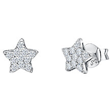 Buy Jools by Jenny Brown Cubic Zirconia Star Stud Earrings, Silver Online at johnlewis.com