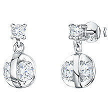Buy Jools by Jenny Brown Cubic Zirconia Crystal Caged Drop Earrings, Silver Online at johnlewis.com