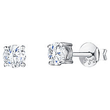 Buy Jools by Jenny Brown Cubic Zirconia Round Stud Earrings, Silver Online at johnlewis.com