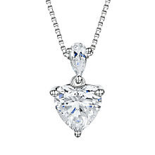 Buy Jools by Jenny Brown Cubic Zirconia Heart Pendant Necklace, Silver Online at johnlewis.com