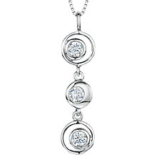 Buy Jools by Jenny Brown Cubic Zirconia 3 Circles Pendant Necklace, Silver Online at johnlewis.com
