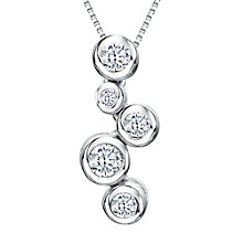Buy Jools by Jenny Brown Cubic Zirconia 5 Circle Pendant Necklace, Silver Online at johnlewis.com