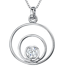 Buy Jools by Jenny Brown Cubic Zirconia 2 Oval Pendant Necklace, Silver Online at johnlewis.com
