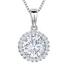 Buy Jools by Jenny Brown Cubic Zirconia Double Diamonte Pendant Necklace, Silver Online at johnlewis.com