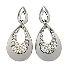 Buy John Lewis Tear Drop Diamanté Drop Earrings, Silver Online at johnlewis.com